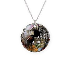 Culture of Spain Soccer Ball Necklace Circle Charm