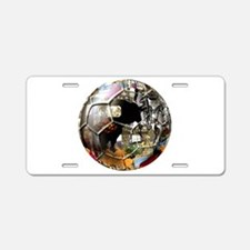 Culture of Spain Soccer Ball Aluminum License Plat