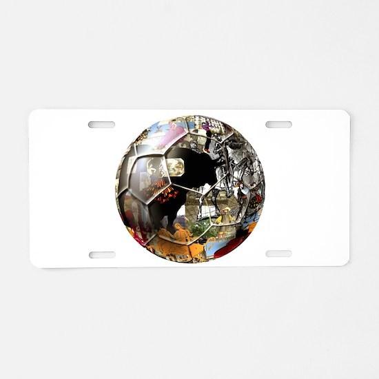 Culture of Spain Soccer Ball Aluminum License Plat