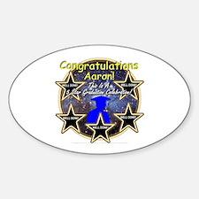 Grad Boys Aaron: 0002 Sticker (Oval)