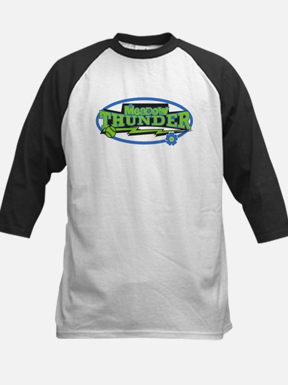 Meadow Thunder Logo Kids Baseball Jersey