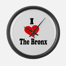 I Heart the Bronx.png Large Wall Clock