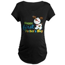 Puppy Dog Happy 1st Fathers Day T-Shirt
