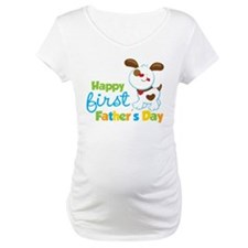 Puppy Dog Happy 1st Fathers Day Shirt