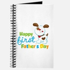 Puppy Dog Happy 1st Fathers Day Journal