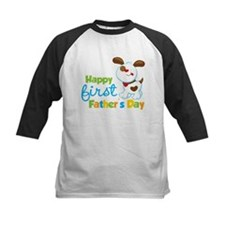 Puppy Dog Happy 1st Fathers Day Tee