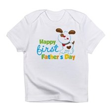 Puppy Dog Happy 1st Fathers Day Infant T-Shirt