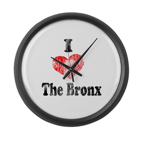 Vintage I Heart the Bronx.png Large Wall Clock