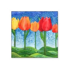 "Tulip Trees Square Sticker 3"" x 3"""