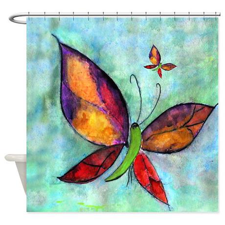 Butterfly Art Shower Curtain