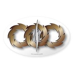 Triple wheel Bolt Decal