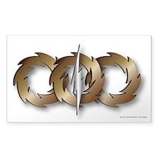 Triple Wheel Bolt Sticker (Rectangle)