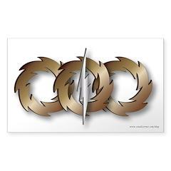 Triple Wheel Bolt Sticker (Rectangle 50 pk.)