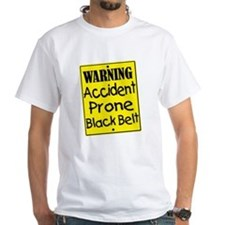 Accident Prone Black Belt Shirt