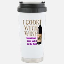 ICookWithWine.PNG Stainless Steel Travel Mug