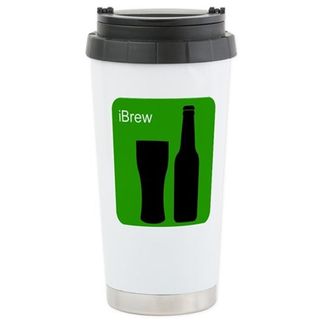 iBrewGreen.png Stainless Steel Travel Mug