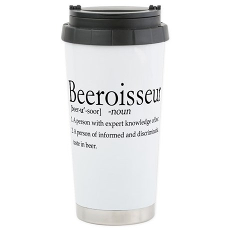 BeeroisseurDark.png Stainless Steel Travel Mug