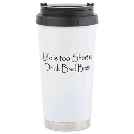 TooShortCPBlack.png Stainless Steel Travel Mug
