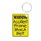 Black belt keychain Keychains