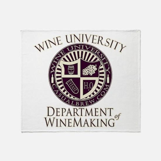 WineUDeptWineMaking.PNG Throw Blanket