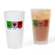 PeaceLoveWine.png Drinking Glass