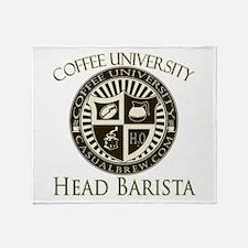 Head Barista Throw Blanket