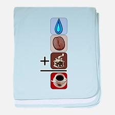 Coffee Formula baby blanket