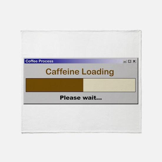 CaffeineLoading.PNG Throw Blanket