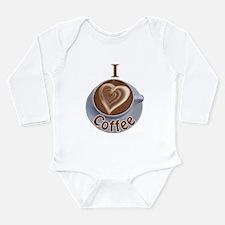 ILoveCoffeeCup.PNG Long Sleeve Infant Bodysuit