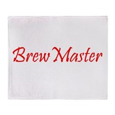 BrewMasterFilledRed.png Throw Blanket