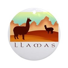 llamas mt. Ornament (Round)