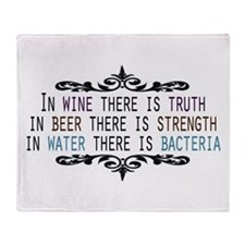 WineTruthBeerStrength.png Throw Blanket