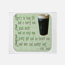 IrishToast.png Throw Blanket