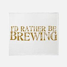 IdRatherBeBrewing.PNG Throw Blanket