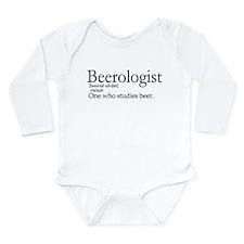 BeerologistDark.png Long Sleeve Infant Bodysuit
