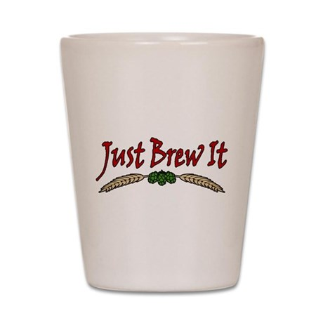 JustBrewIt-White Shot Glass
