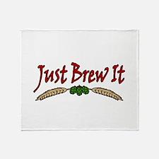 JustBrewIt-White Throw Blanket