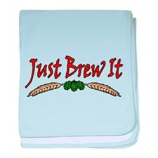 JustBrewIt-White baby blanket