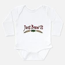 JustBrewIt-White Long Sleeve Infant Bodysuit