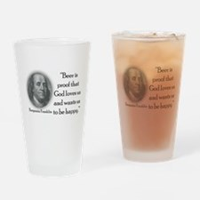 BenFranklinCPBlack.png Drinking Glass