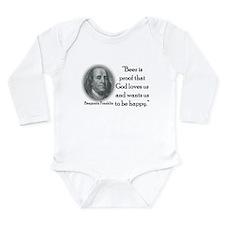 BenFranklinCPBlack.png Long Sleeve Infant Bodysuit