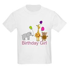 Birthday Girl Zoo Animals T-Shirt