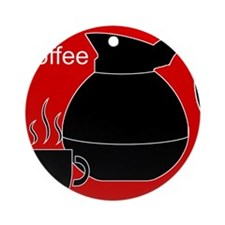 iCoffee Red Ornament (Round)