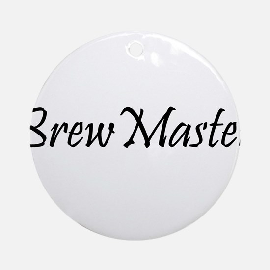 BrewMasterFilledBlack.png Ornament (Round)