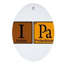 Periodic-Beer.png Ornament (Oval)