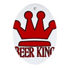 BeerKing.png Ornament (Oval)