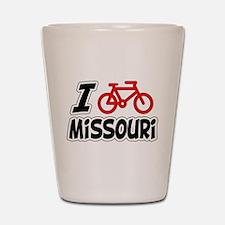 I Love Cycling Missouri Shot Glass