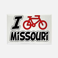 I Love Cycling Missouri Rectangle Magnet