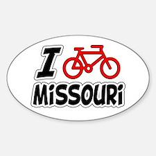 I Love Cycling Missouri Decal
