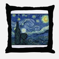 WineyNight.png Throw Pillow